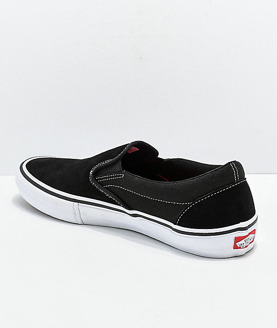 a68c49156c4 ... Vans Slip-On Pro Black   White Gum Skate Shoes ...