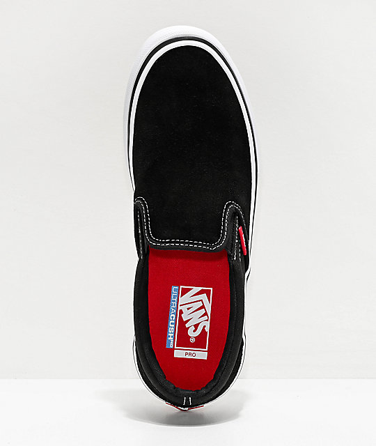 Vans Slip-On Pro Black & White Skate Shoes
