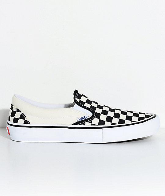 c23b0ee8d2afc9 vans slip on pro black white white