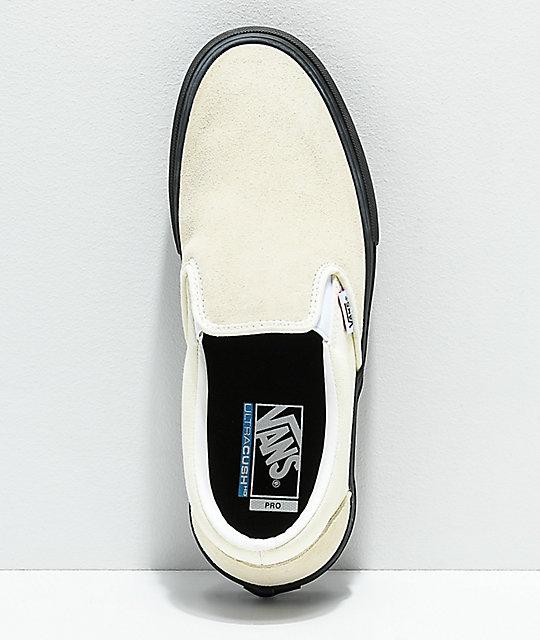 c9f9f6abf8 ... Vans Slip-On Pro Classic White   Black Skate Shoes ...