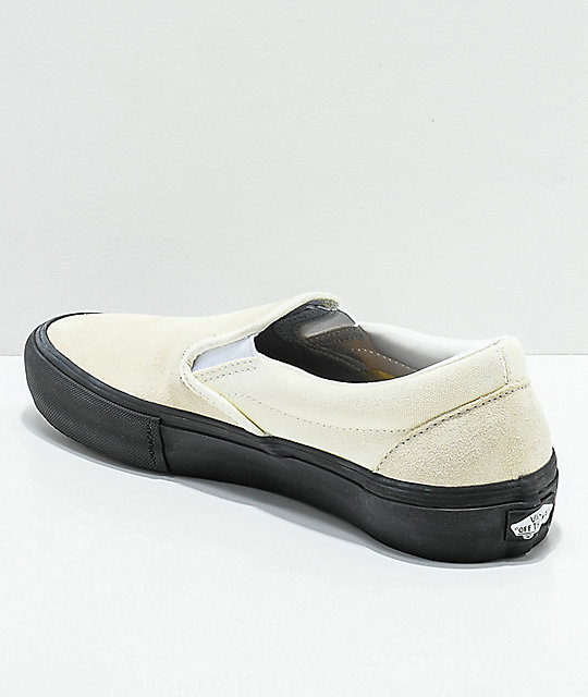 d8220f863d ... Vans Slip-On Pro Classic White   Black Skate Shoes ...