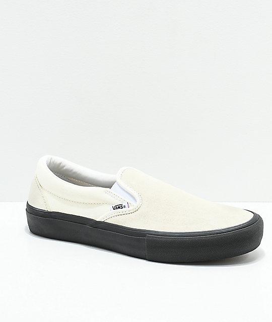 Vans Slip On Pro Skate Shoes Classic WhiteBlack