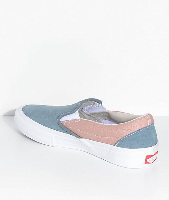 471b1985558 ... Vans Slip-On Pro Goblin Blue   Mahogany Rose Skate Shoes ...