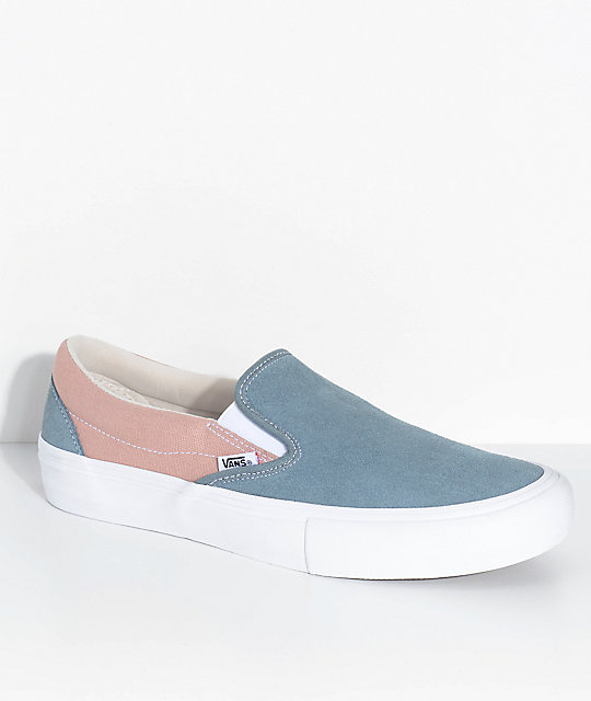 7120c37af55 Vans Slip-On Pro Goblin Blue   Mahogany Rose Skate Shoes