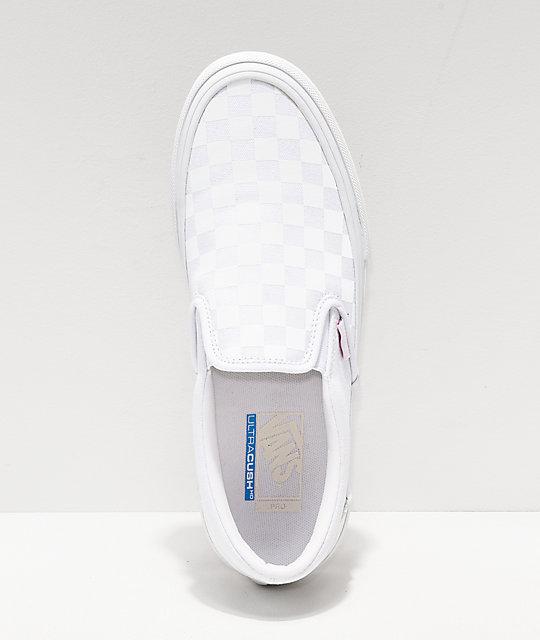 deseable violencia la carretera  Vans Slip-On Pro Reflect White Skate Shoes | Zumiez