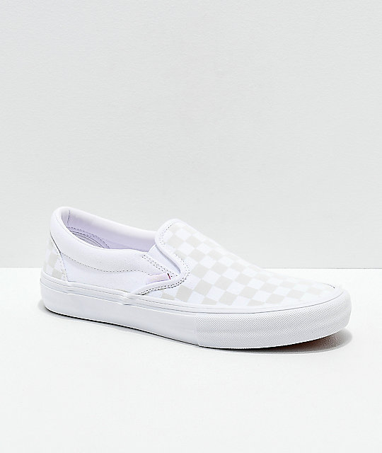 Vans Slip-On Pro Reflect White Skate Shoes