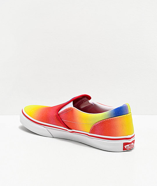 Vans Slip-On Rainbow Glitter Skate Shoes