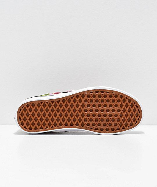ea50a73a4b ... Vans Slip-On Romantic Floral Pink   White Skate Shoes