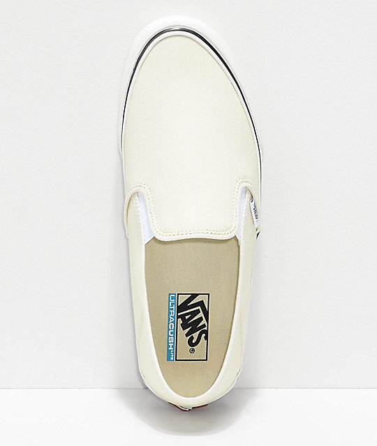 Vans Slip-On SF Classic White & Checkerboard Canvas Skate Shoes