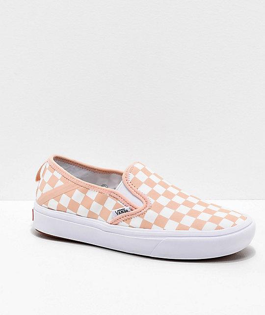 50436a71a6 Vans Slip-On SF Comfy Cush Spanish Vanilla   White Skate Shoes ...