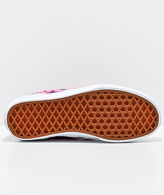 Vans Slip-On Surf Dinosaur Pink Skate Shoes