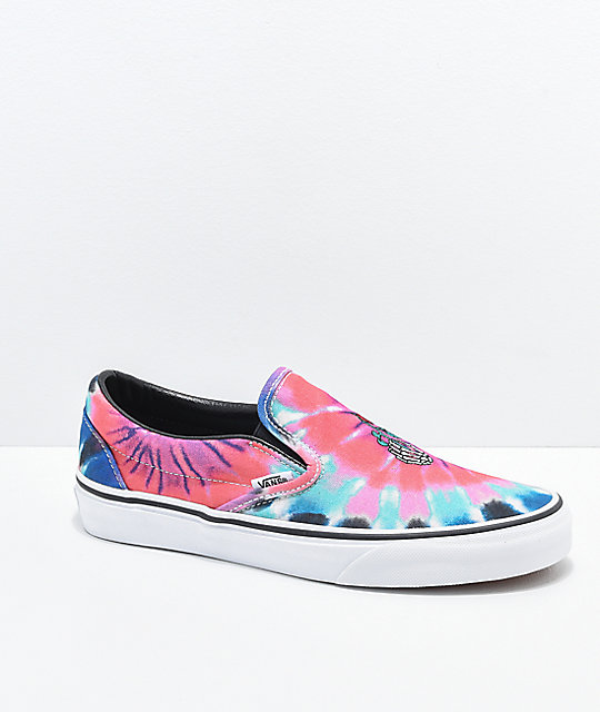 23bc1973c9a4 Vans Slip On Tie Dye Skate Shoes