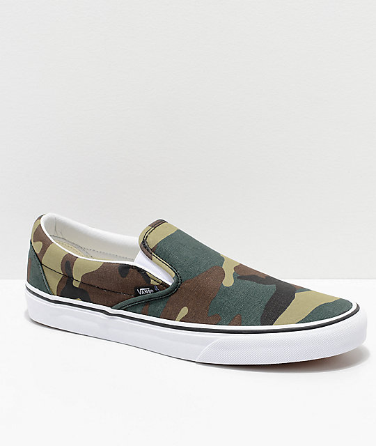 Vans Slip-On Woodland Camo Skate Shoes