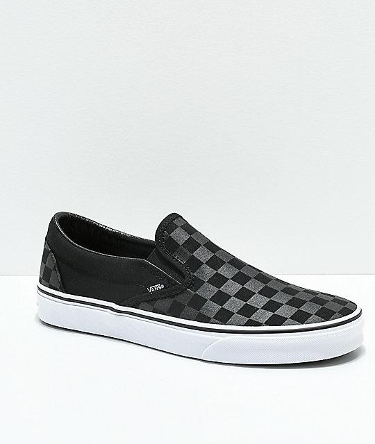 On Vans De Skate Zumiez Negros Cuadros Zapatos Slip R66nqf