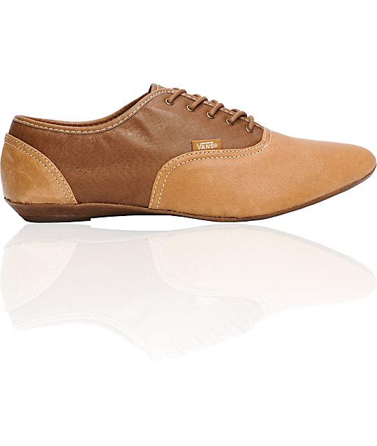 a1f3942e7b Vans Sophie Brown   Tan Shoes