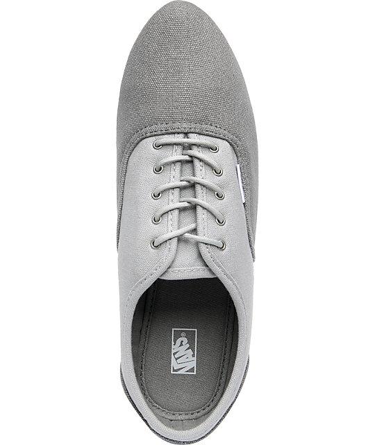 0141ef84e4 ... Vans Sophie Grey   Light Grey Shoes ...