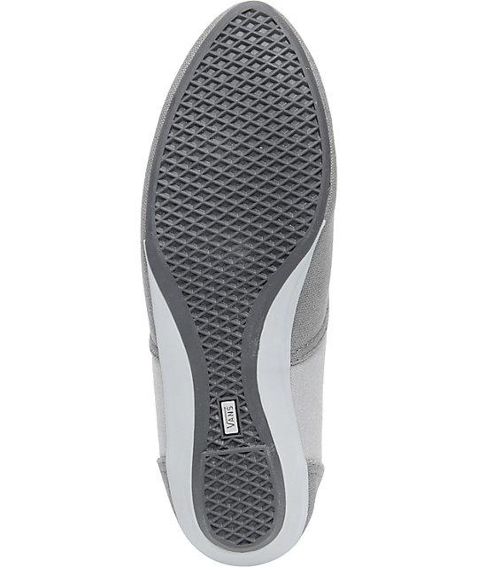 dc13d1e8e1 ... Vans Sophie Grey   Light Grey Shoes