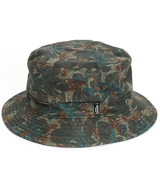 5e9b990b63 Vans Spackler Tropical Camo Bucket Hat