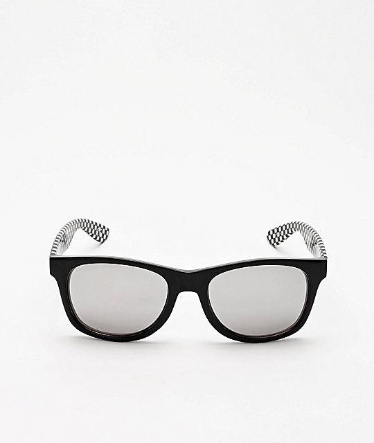 ea2235e30d Vans Spicoli 4 Black & Checker Sunglasses