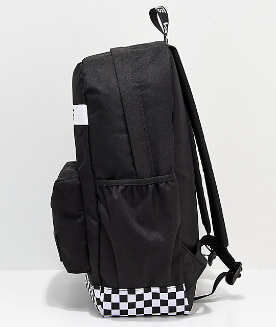 f4e7f0949a30ce ... Vans Sporty Realm Plus Black   White Backpack ...