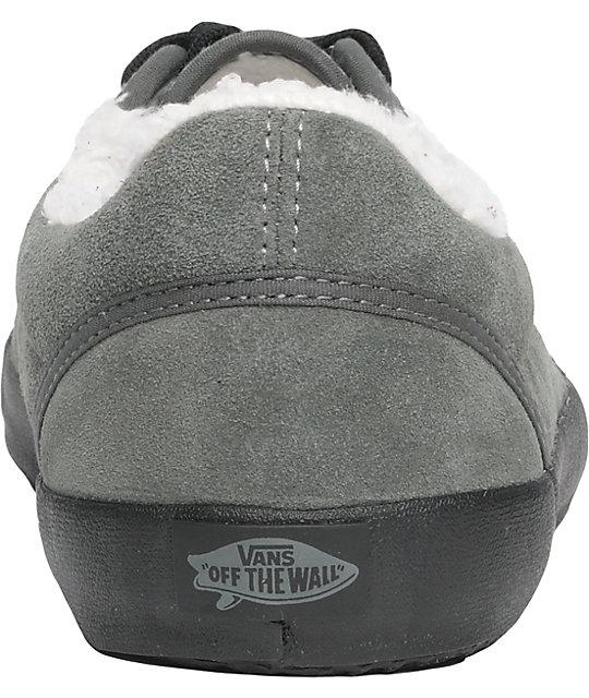 41d4d7a9207810 ... Vans Srpls Charcoal Fleece Lined Skate Shoes ...
