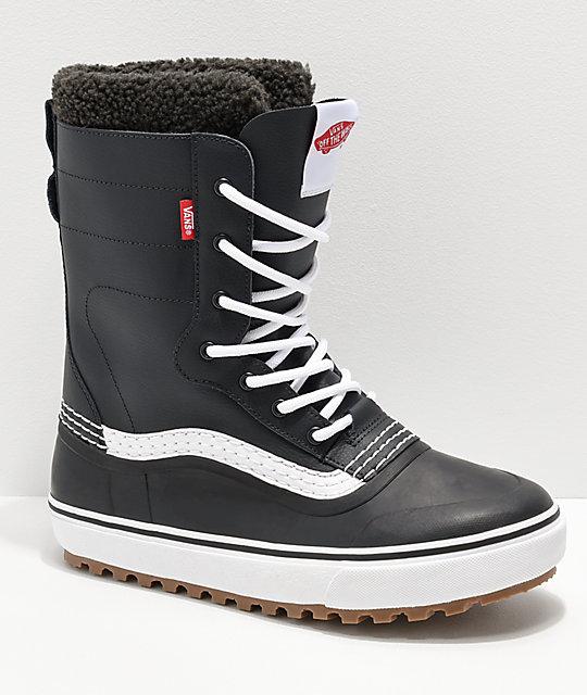 Vans Standard botas de nieve negras y blancas ... 3aa2788852a68