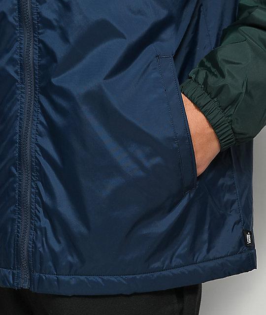 af7382fc48f ... Vans Starboard Blue   Green Zip Jacket ...