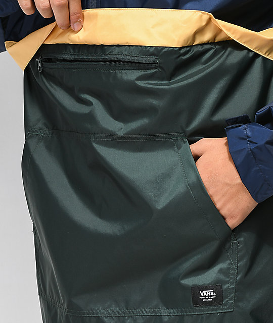 Vans Stoneridge Navy & Green Anorak Jacket