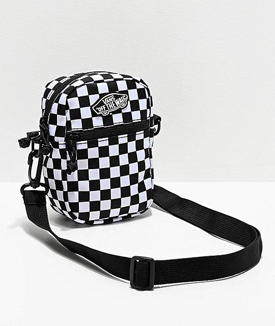 White Checkerboard Crossbody Bag