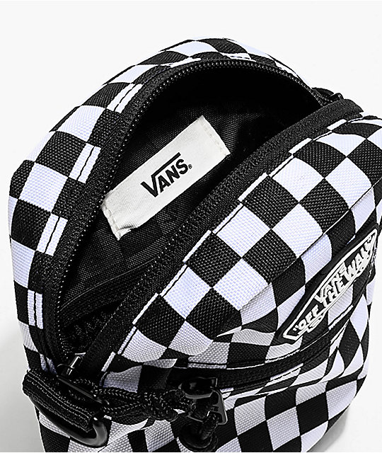 Vans Street Ready Black and White Checkerboard Shoulder Bag