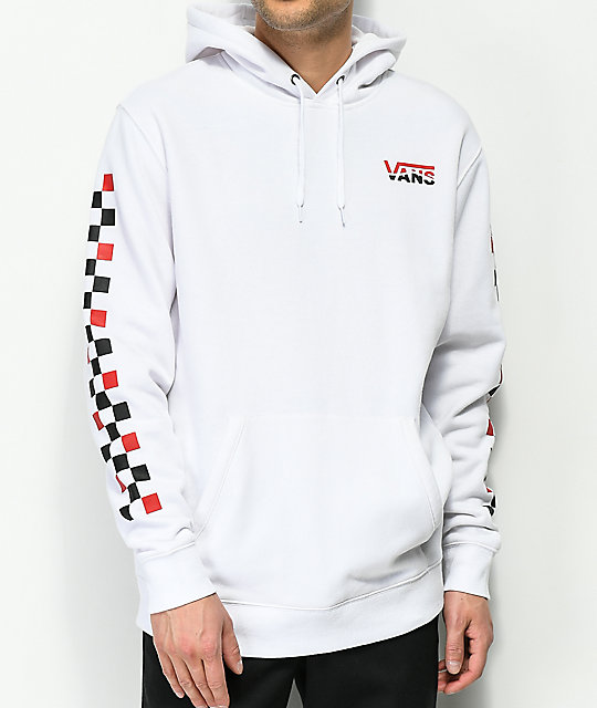 Vans Striped Drop V White Hoodie