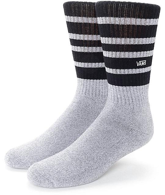 3c9923ac0380 Vans Striped Heather Grey   Black Crew Socks