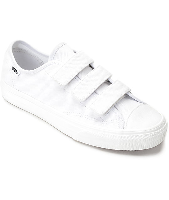 6915829b1f Vans Style 23V White Twill Womens Shoes