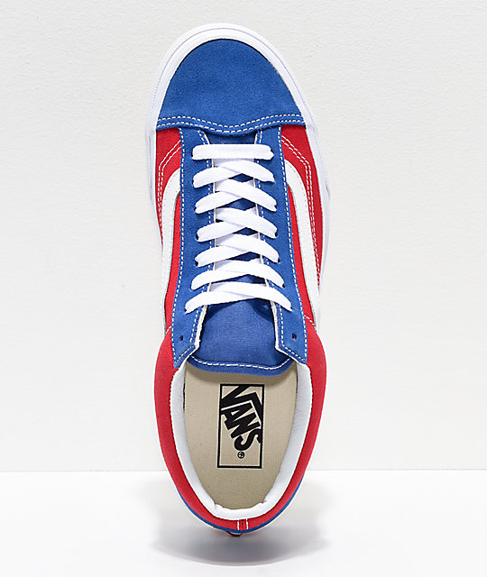 Vans Style 36 BMX Red, White & Blue Checkerboard Skate Shoes