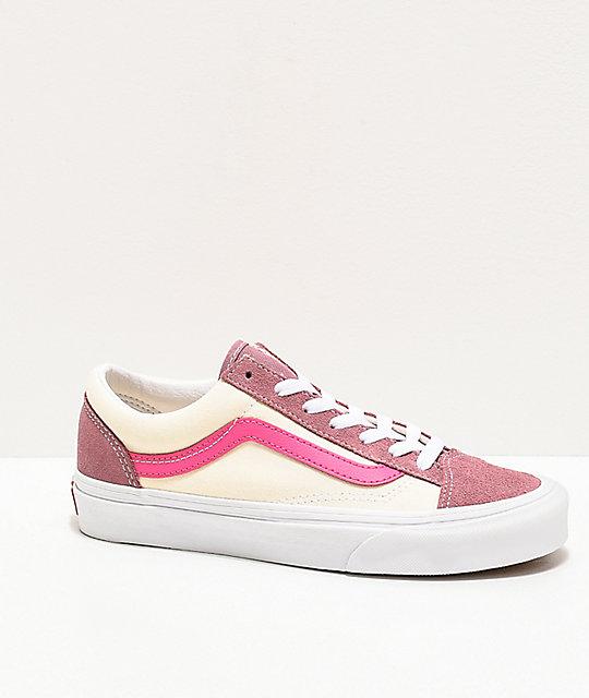 Vans Style 36 Retro Sport Pink Skate Shoes