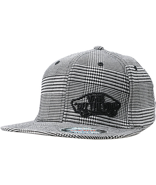 Vans Suiting Tifanny Black Plaid Flexfit Hat