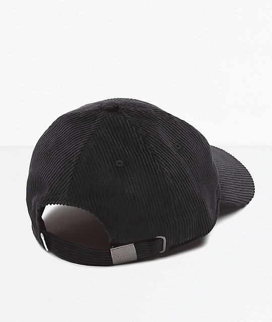 d7096e9f87 Vans Summit Court Side Black Corduroy Strapback Hat