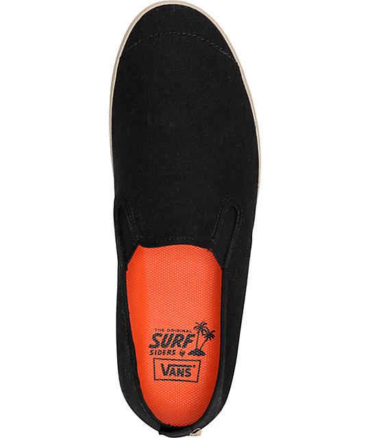1705a16970 ... Vans Surfjitsu Black   Khaki Hemp Slip On Skate Shoes ...