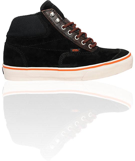 Vans Switchback Snow Black   Orange Skate Shoes  8abe461696
