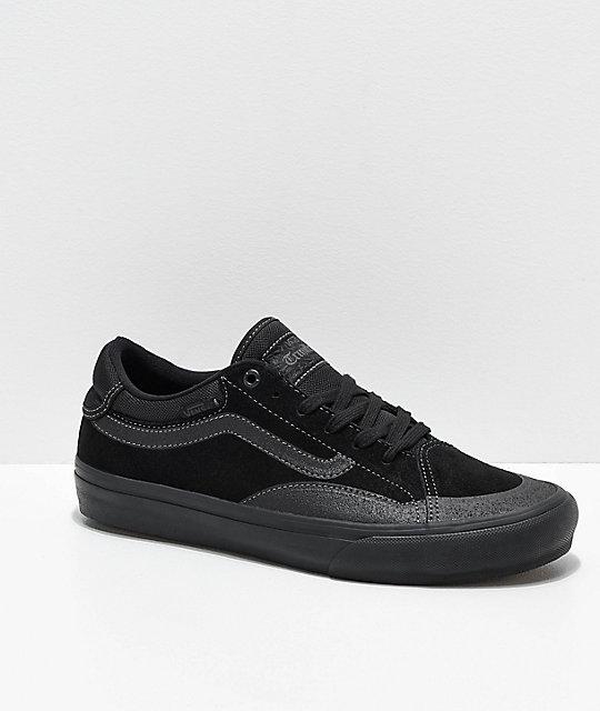 c8ccfcb10b Vans TNT ADV Prototype Blackout Skate Shoes