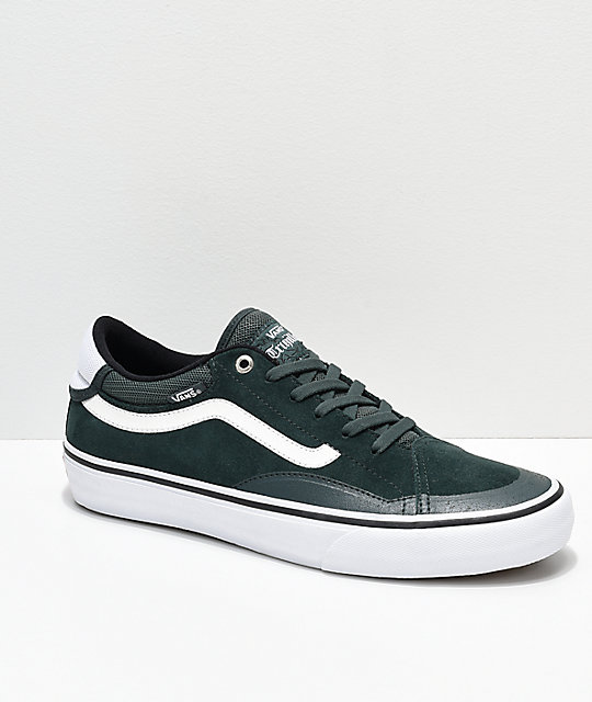 Vans TNT ADV Prototype Dark Spruce Green & White Skate Shoes