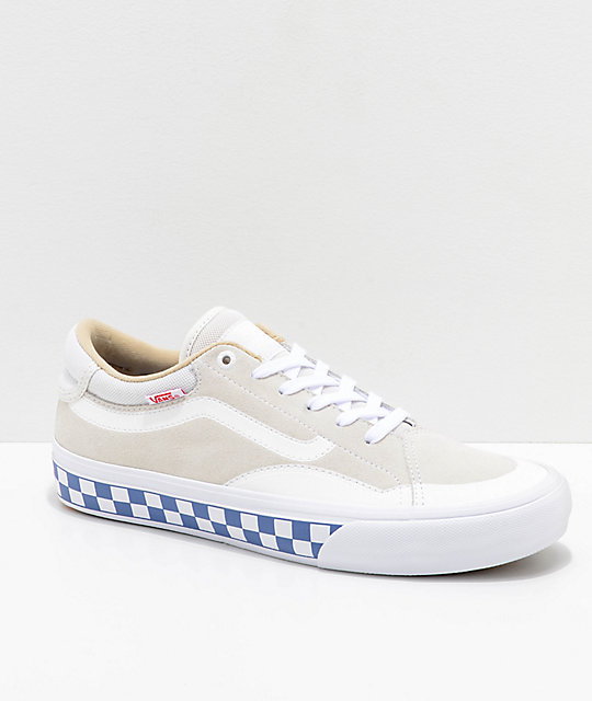 Vans TNT ADV Prototype Marshmallow White & Checkerboard Skate Shoes