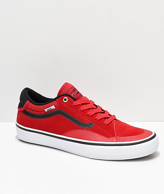 9265a21bc519 Vans TNT ADV Prototype Racing Red   White Skate Shoes