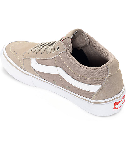 Vans TNT SG Taupe & White Skate Shoes
