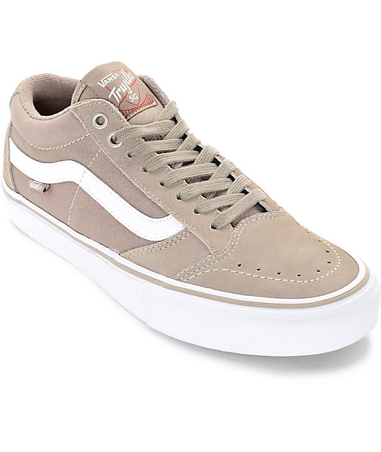 Vans TNT SG Taupe   White Skate Shoes  347544c077db