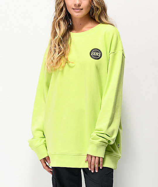 Vans Taper Off Sharp Green Crew Neck Sweatshirt
