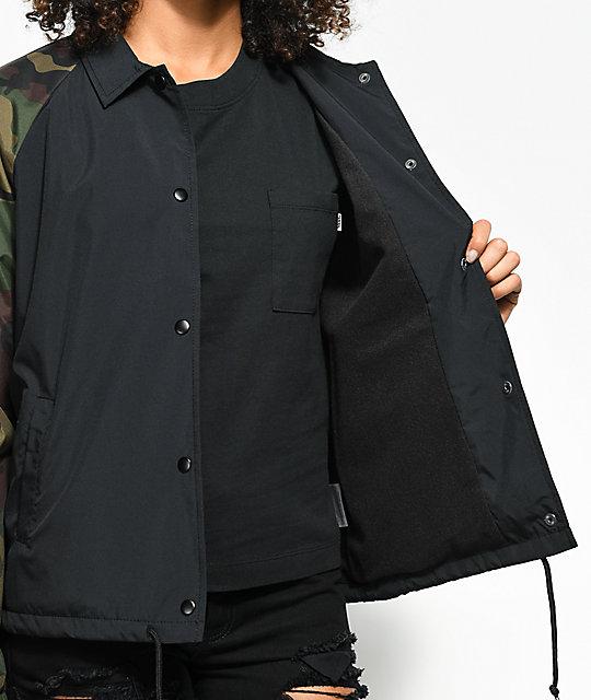 d8fd17c524 ... Vans Thanks Black   Camo Coaches Jacket ...