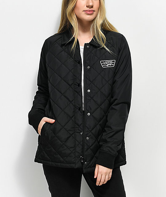 Vans Thanks Coach Black Quilted Mte Jacket Zumiez