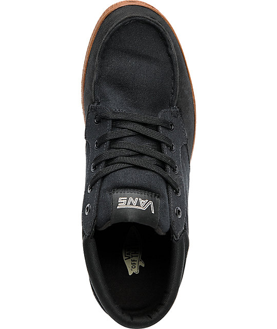Vans Thurso Black & Gum Skate Shoes
