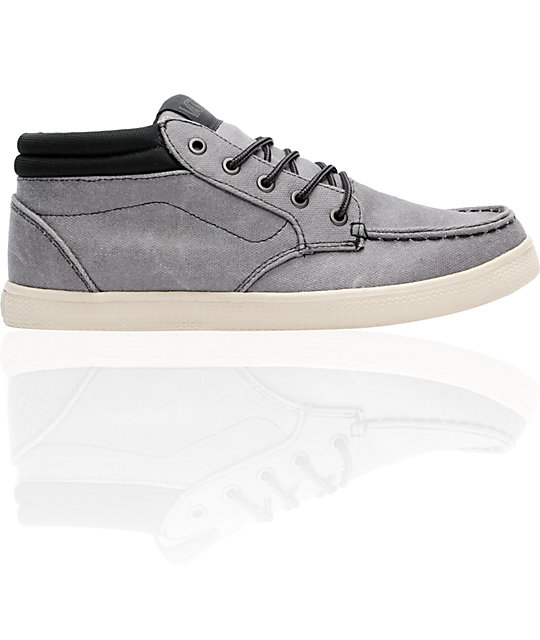 Vans Thurso Pewter Wax Canvas Skate Shoes